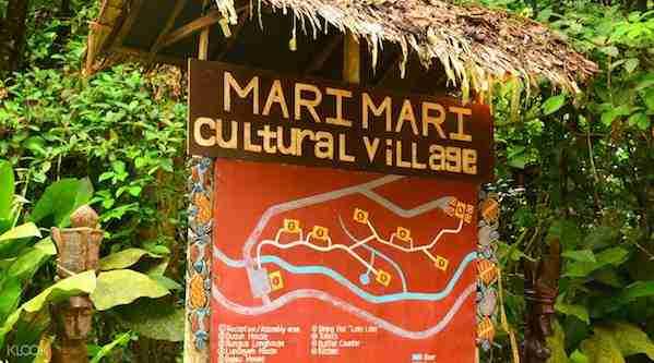 Mari Mari Cultural Village Sign