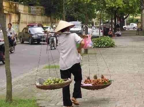 Fruit Sellers in Vietnam