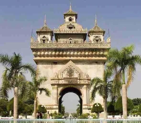 Patuxay in Vientiane Laos