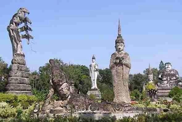 Sala Keoku Sculpture Park in Vientiane Laos