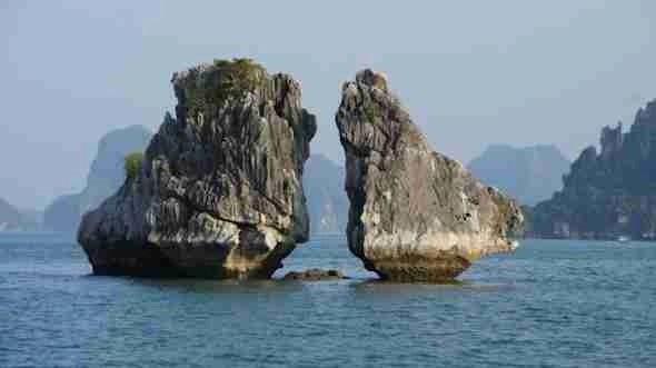 Hon Ga Choi island in Halong Bay Vietnam