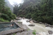 The hot springs near Jhinudanda. A river roars next to you as you bask in the jungle. This was heaven. I was a little skeptical before reaching the hot springs, but trust me, it's exactly what you need after a week of trekking.