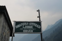 Finally, we reached Dovan, and a well earned rest.