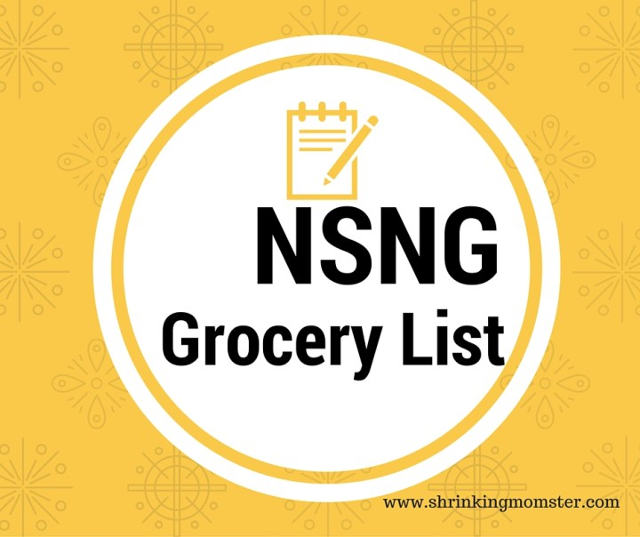 NSNG Grocery Shopping List