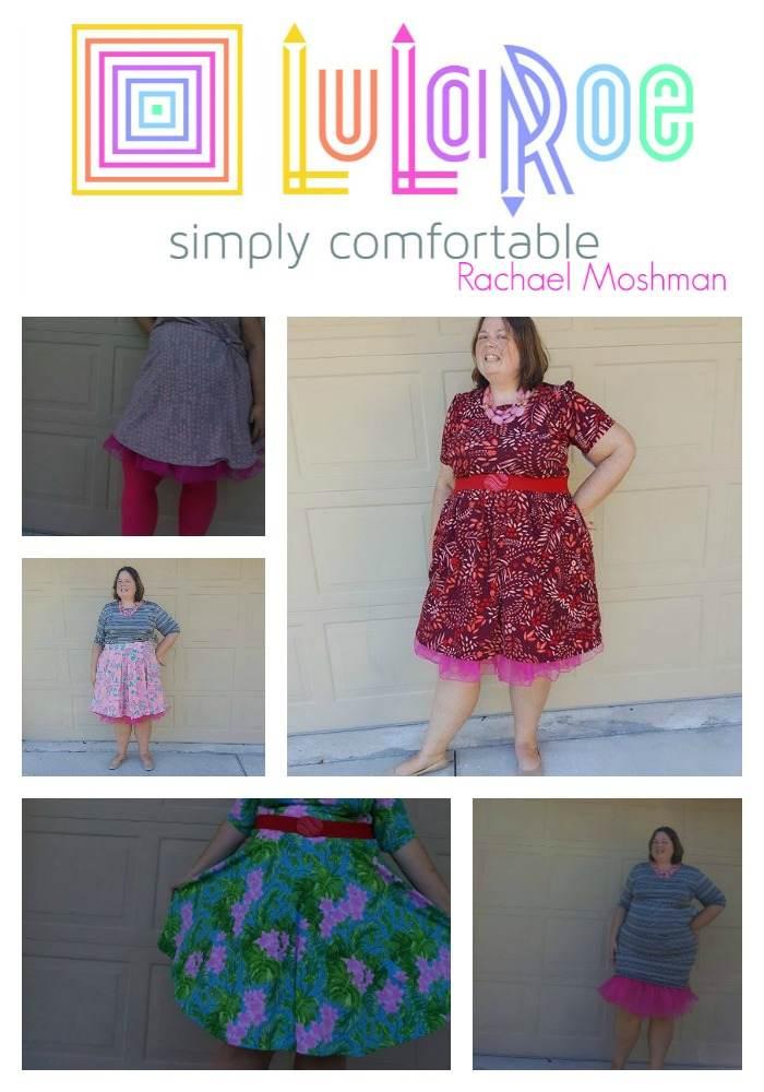 LuLaRoe plus size dresses with petticoat