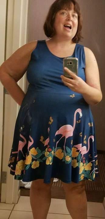 CowCow plus size flamingo dress