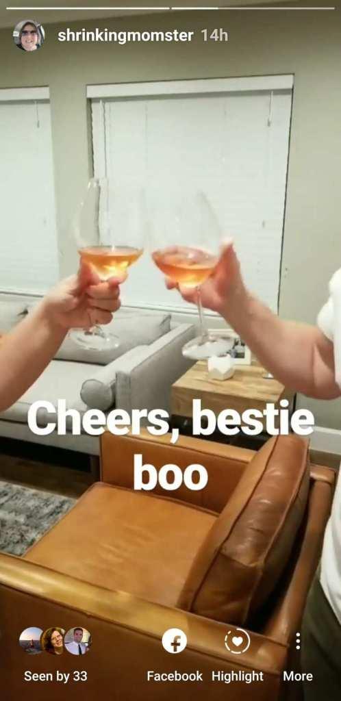Cheers, bestie boo!
