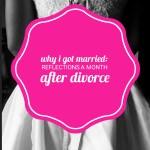 Reflections on marriage after divorce