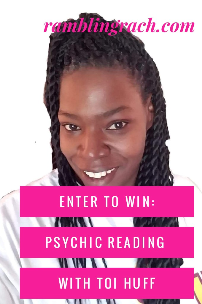enter to win a psychic reading with Toi Huff