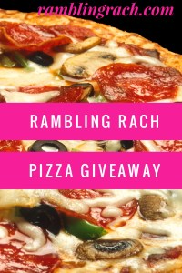 Free pizza giveaway at Ramblingrach.com