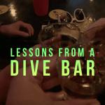 Whiskey shots at a dive bar