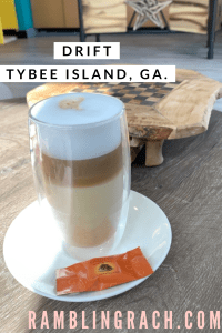 Latte at Drift Tybee Island, Georgia