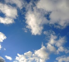 photo of white clouds in a blue sky