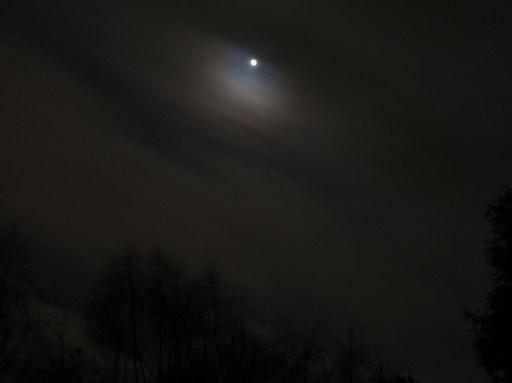 Photo of January full moon