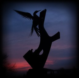 Photo of Bulmers' Woodpecker Sculpture