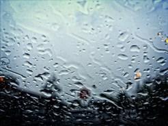 Photo of rain drops on windscreen