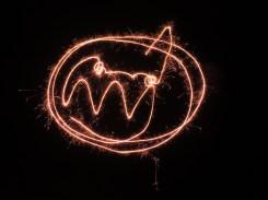 Photo of sparkler pumpkin