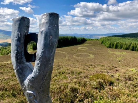 The Point of Resolution sculpture on the Minch Moor
