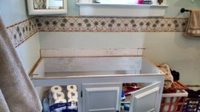 The old counter top has been removed