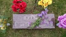 My grandpa and grandma Harris. He died of a great attack and she died of old age.