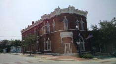 Bad photo of a cool building in Audubon
