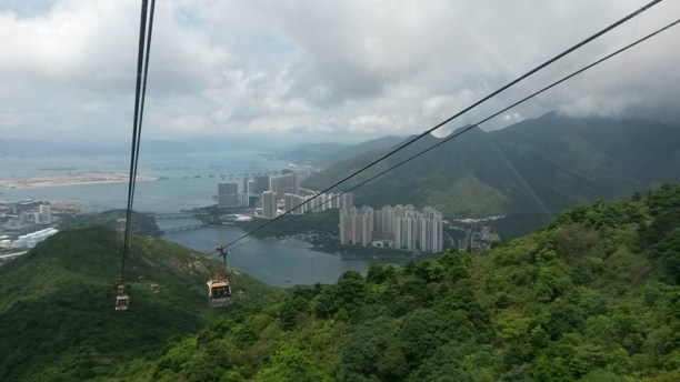 View from the cable cars