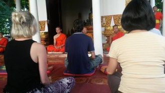 Meditation with Monks