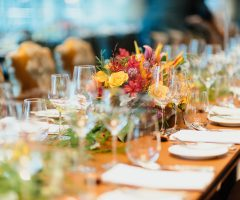 Are you sitting at the banquet table?