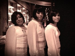 My friends dressed as The Supremes for the OCDT drag show.