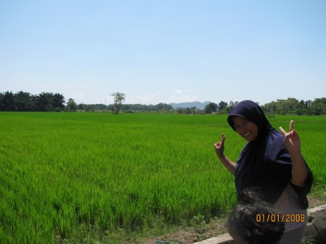 Salma at a Rice Field (Sawa)