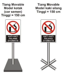 Tiang moveable Cor & Tiang Moveable silang