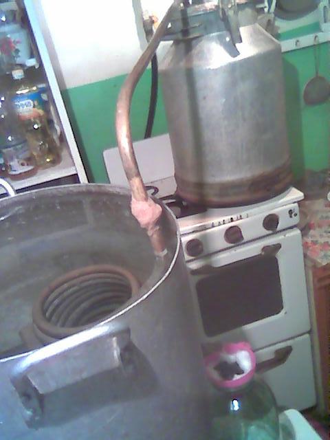 Illegal still for home-made vodka (samogon), Ukraine