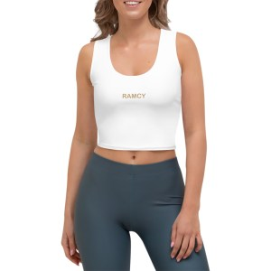 Top bianco donna stretching