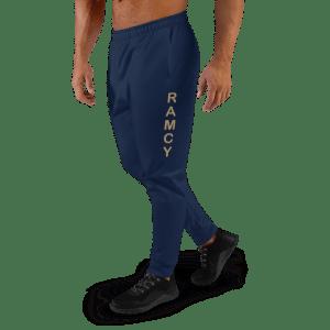 Pantaloni Blu Jogging Uomo Marathon streetwear