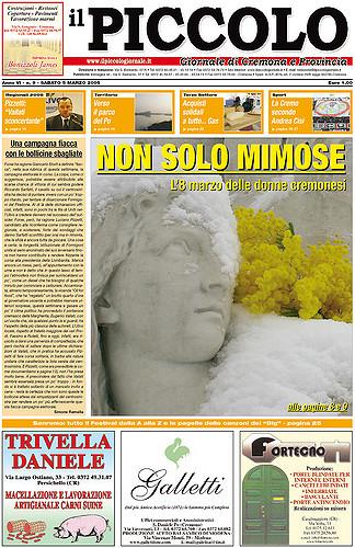 Copertina del Piccolo Giornale del 5 marzo 2005