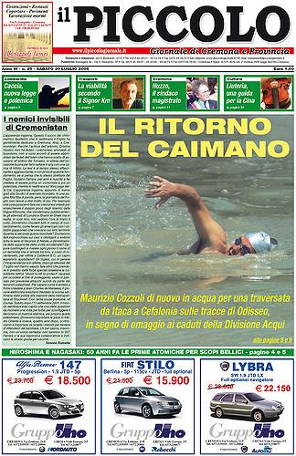 Copertina del Piccolo Giornale del 30 luglio 2005