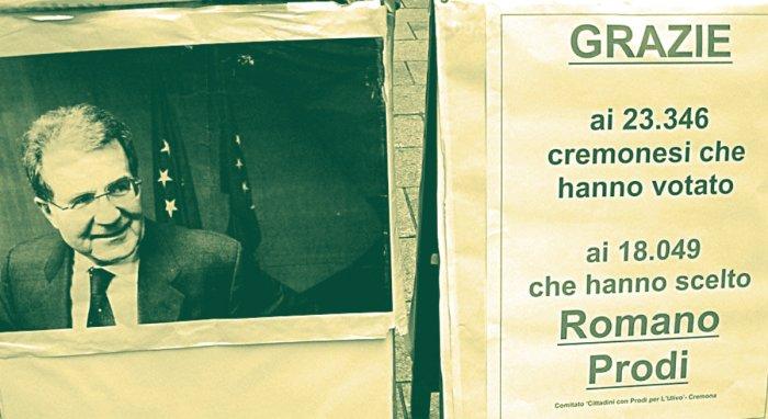 Il banchetto del Comitato per Prodi di Cremona