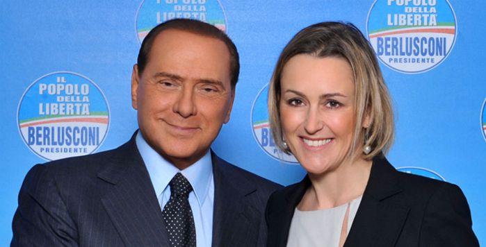 Silvio Berlusconi con Deborah Bergamini