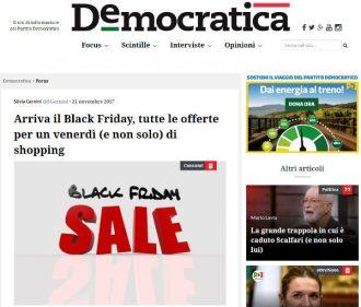 L'articolo di Democratica del 21 novembre dedicato al Black Friday