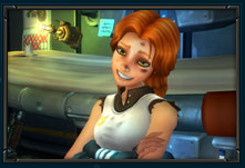 Cute Soul-less ginger is Wildstar's main marketing point.