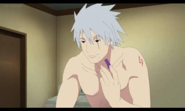 Kakashi without his mask on
