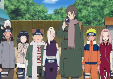 Sukea with almost everyone from Naruto's age