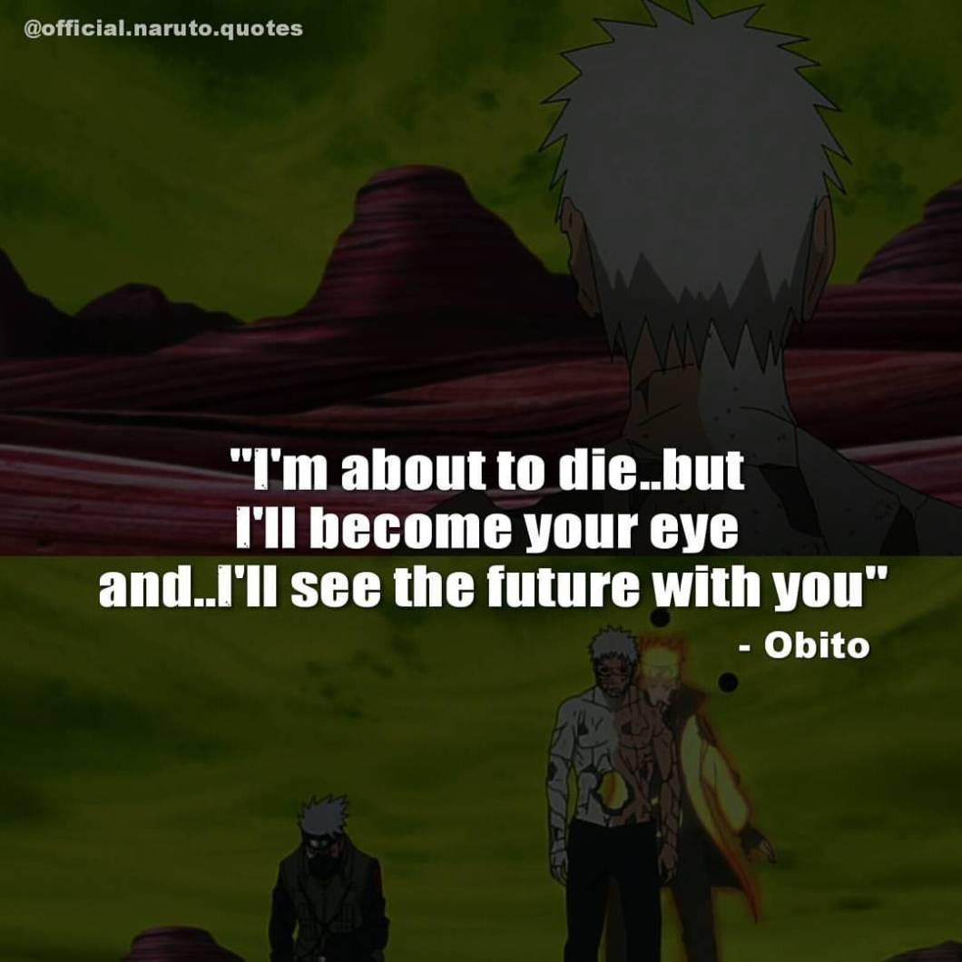 obito quotes to kakashi