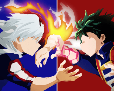 deku and todoroki wallpaper