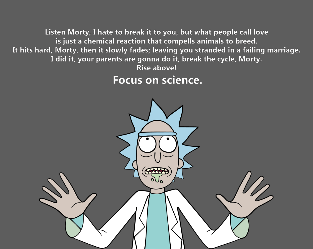 rick and morty quotes wallpaper