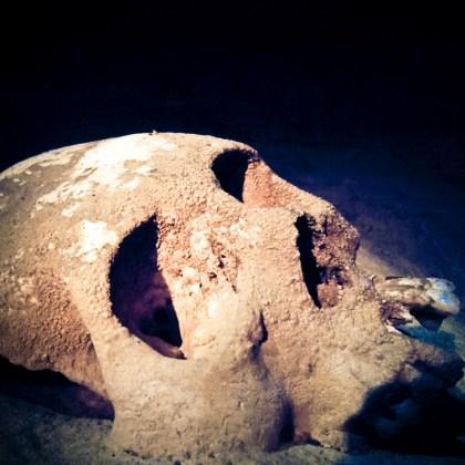 Ancient Mayan sacrificial remains.