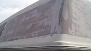 Bondo over exterior cabover fiberglass