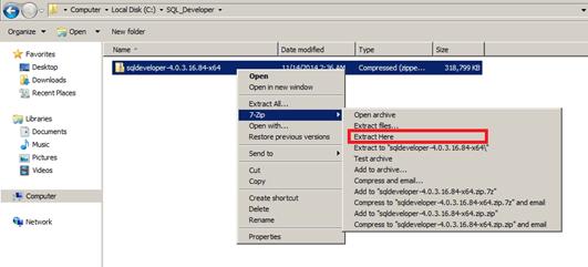 התקנת SQL Developer