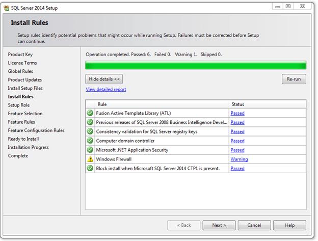 התקנת SQL SERVER 2014 - שלב 4