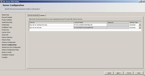installing tabular model step 10